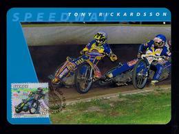 Tony Rickardsson Motorcycles Sports Motos Motorbikes Transports 2002 Motocross Maximum Cards SWEDEN Mc713 - Motos