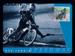 Ove Fundin Motorcycles Sports Motos Motorbikes Transports 2002 Motocross Maximum Cards SWEDEN Mc714 - Motos