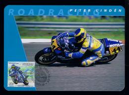 Peter Lindén Motorcycles Sports Motos Motorbikes Transports 2002 Motocross Maximum Cards SWEDEN Mc716 - Motos