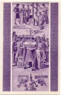 ARGENTINA 1949 - MASONRY - ENTIRE POSTAL CARD OF 4c BROWN (violet) - Enteros Postales