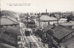 Japan Renjaku City, Okazaki, Street Car Animated Street Scene, C1920s/30s Vintage Postcard - Japan