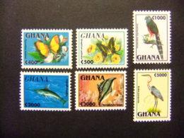 GHANA 1995 Faune Fauna Tropical Yvert 1839 / 44 ** MNH - Ghana (1957-...)
