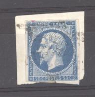 CLX 2535  -  France  :  Yv  14 A  (o)  Variété Suarnet 13  =  Boule Au Bout Du Nez - 1853-1860 Napoleon III