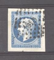 CLX 2537  -  France  :  Yv  14 A  (o)  Variété Suarnet 15  =  Encoche Filet Inférieur Gauche - 1853-1860 Napoleon III