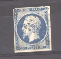 CLX 2538  -  France  :  Yv  14 A  (o)  Variété Suarnet 16  =  Encoche E Haut à Droite Du Cartouche, Rosette Sup. Gauche - 1853-1860 Napoleon III