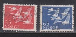 NORWAY Scott # 253-4 Used - Flying Geese - Norway