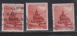 NORWAY Scott # 185 X 3 Used - Norway