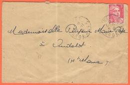 FRANCIA - France - 1946 - 3F Marianne De Gandon - Viaggiata Da Givet Per Andelot - 1945-54 Marianna Di Gandon