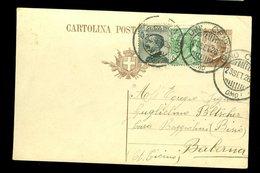 Italia Regno 1925 Cartolina Postale CP56 40c Bruno + C5 Leoni + C30 Michetti Per Estero - 1900-44 Vittorio Emanuele III