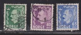NORWAY Scott # 345, 347, 349 Used - Norway