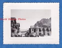 Photo Ancienne Snapshot - LE LAUTARET - Automobile Et Autobus Prés De L' Hôtel Des Glaciers - Hautes Alpes Briançon - Cars