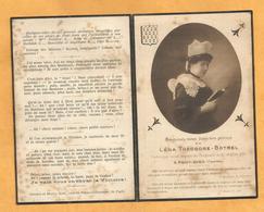 IMAGE GENEALOGIE FAIRE PART AVIS DECES CARTE MORTUAIRE Lena Théodore Botrel Duche LUXEMBOURG PONT AVEN FINISTERE 1916 - Décès