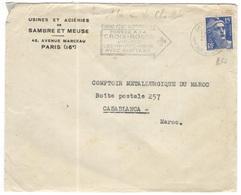 FRANCIA - France - 19?? - 15F Marianne De Gandon + Flamme Pensez à La Croix-Rouge - Sambre Et Meuse - Viaggiata Da Paris - 1945-54 Maríanne De Gandon