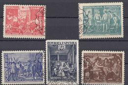 SPAGNA - BENEFICENZA - 1938 - Serie Completa Usata Composta Da 5 Valori: Yvert 60/64. - Bienfaisance