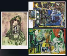 Paintings Peinture Arts España 3x Maximum Cards Museum PICASSO Barcelona Fdc-pmk Mc731 - Picasso