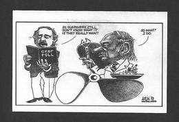POLITIQUE DU QUÉBEC - RENÉ LÉVESQUE - CROP POLL - CARICATURE PAR AISLIN 1979 - Personnages