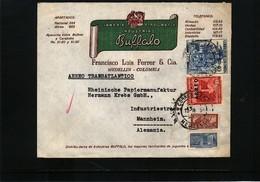 Colombia 1954 Interesting Airmail Letter - Kolumbien
