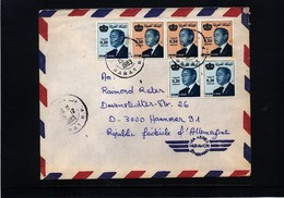Morocco 1983 Interesting Airmail Letter - Marruecos (1956-...)