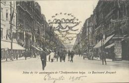 Bruxelles : Fêtes Du 75° Anniversaire De L'Indépendance Belge - Le Bd Anspach / 6/8/1905 - Feesten En Evenementen