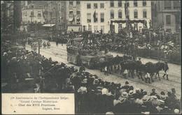 Bruxelles : Fêtes Du 75° Anniversaire De L'Indépendance Belge - Le Cortège Historique >>>>4 Cartes !! - Feesten En Evenementen