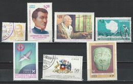 Chile. Scott # 526-27,42,48,51,967n, Used. Bernardo O'higgins 1978-91 - Chile