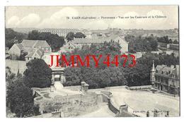 CPA - Panorama Aérien - Vue Sur Les Casernes Et Le Château - CAEN 14 Calvados - N° 73 - Phot-Edit. Maillaut - Caen