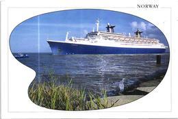 Cruise Ship Paquebot Norway ( Old France Ship ) Postcard - Dampfer