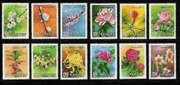 Taiwan 1988 Flower Stamps Plum Apricot Peach Peony Lotus Chrysanthemum Camellia Lily Flora Plant - Collections, Lots & Series