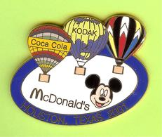 Pin's Mac Do McDonald's Mickey Montgolfières Coca-Cola Kodak (Recollé) - 8BB06 - McDonald's