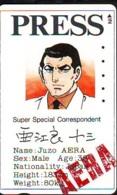 Carte Prépayée Japon * MANGA * Comics * PRESS  (16.780)  Japan Prepaid Card * TOSHO Karte * CINEMA * FILM - BD