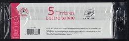 """1 CARNET COMPLET 5 NOUVEAUX TIMBRES  SUIVIS AUTOCOLLANTS MARIANNE  """"L'ENGAGÉE"""" 2018 . TTB - 2018-... Marianne L'Engagée"""