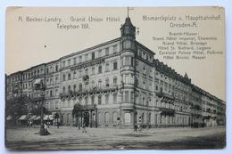 Grand Union Hotel, Bismarckplatz Und Hauptbahnhof, Dresden, Deutschland Germany - Dresden