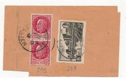Bande JOURNAL OFFICIEL Affr 501 + 519 X2 - VICHY 9/10/1941 Pour ST PIERRE ET MIQUELON - Affr à 24F80 - 1941-42 Pétain