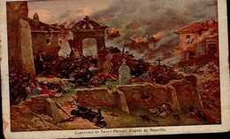 TEMOIGNAGE DE SATISFACTION 1920  DECERNE A L'ELEVE...CIMETIERE DE ST-PRIVAT.... - Diplômes & Bulletins Scolaires