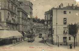 BEZIERS La Rampe De La Citadelle Trams Café Des Arts Et Metiers Recto Verso - Beziers