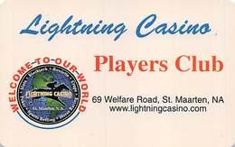 Lightning Casino - Cole Bay St. Maartan - Rare Slot Card  .....[FSC][RSC]..... - Casino Cards