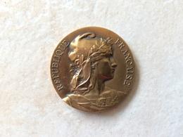 Médaille En Bronze Signé Rivet ( Congrès L.m.c. 1928 M. Vallois ) Ligue  Maritime Et Coloniale  Française - Autres