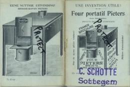Zottegem : SCHOTTE  ( Brood Bakovens Pieters - Bakkerij ( Boekje Formaat 14 X 10 Cm ) - Zottegem