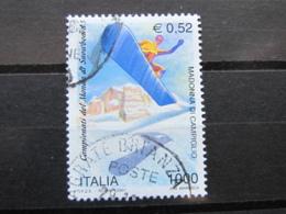 *ITALIA* USATI 2001 - CAMPIONATO MONDO SNOWBOARD - SASSONE 2518 - LUSSO/FIOR DI STAMPA - 6. 1946-.. Repubblica