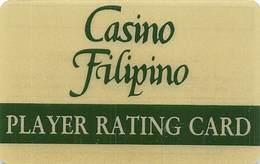 Casino Filipino - BLANK Thin Plastic Player Rating Card / Slot Card  .....[FSC]..... - Casino Cards