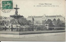 2 CP 49 - Angers L'Hotel De Ville & Boulvard De Saumur - Angers
