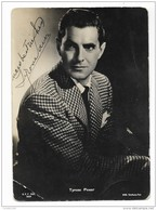 TYRONE POWER CON FIRMA STAMPATA NV FG - Acteurs