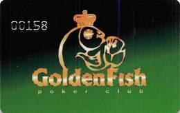 GoldenFish Poker Club - Moscow Region Russia - Underground Poker Club Member Card  ....[FSC][RSC]..... - Casino Cards