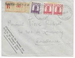 Env  Cad  TANGER CHERIFIEN  11 OCT 1945 Reouverture Du Bureau Des PTT  Pour CASABLANCA TB - Morocco (1891-1956)