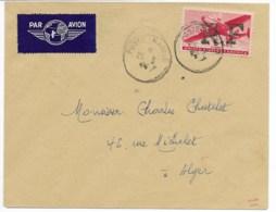 Env Cad POSTE NAVALE  25/3/1944  TP Américain Surchargé RF Pour ALGER TB - Algeria (1924-1962)