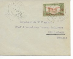 Env Cad  ZARZIS 21 /6/1919 Pour BEN GARDANE  TTB - Airmail