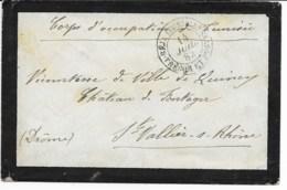 Env Cad  BEJA TUNISIE TRESOR ET POSTES  14 JUIL 1882  CORPS D OCCUPATION Pour ST VALLIER TB - Tunisia (1888-1955)