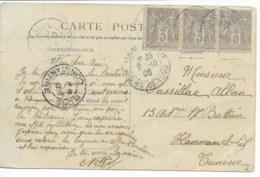 CP Cad  LA CALLE 1906 Pour HAMMAMEL  TTB - Tunisia (1888-1955)
