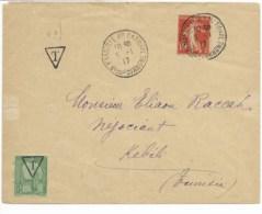 Env Cad MARSEILLE 5/1/1917 Taxée Pour KEBILI (tunisie) Avec Tp  TB - Postmark Collection (Covers)