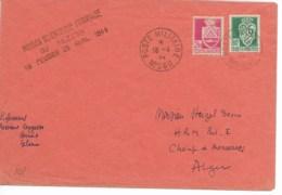 Env Cad POSTE MILITAIRE NO560 18/4/1944 Cachet MISSION SCIENTIFIQUE FRANCAISE DU FEZZAN TTB - Fezzan (1943-1951)